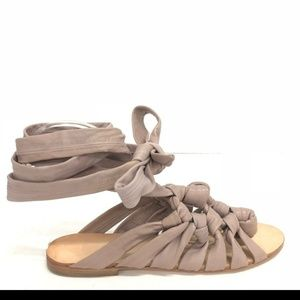 BcbgMaxAzria leather strappy ankle sandals size 9